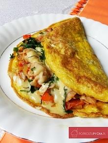 Wypasiony omlet! :) Czyli pomysł na pyszne i baaaaardzo sycące śniadanko!