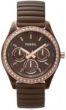 zegarek Fossil w odcieniach czekolady