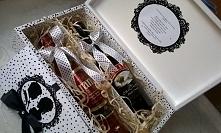 Skrzynka podwójna na alkohol w stylu pin-up. Idealny i oryginalny prezent na Ślub, Rocznicę, Poprawiny, itp.