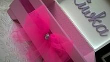 Kuferek na skarby z imieniem. Idealny jako prezent dla dziewczynki z okazji R...