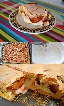 Kruche, maślane ciasto ze śliwkami w cynamonie i pomarańczową bezą :)  Przepis pochodzi ze strony podanej w linki, znalazłam go oczywiście tu i lekko zmodyfikowałam :) Mieszkam ...