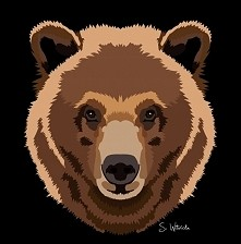 """Grizlly Bear. Sama zrobiłam.  Znajdziecie mnie na facebooku pod """"Wiilczycas Art"""""""