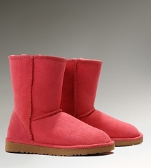 Women UGG Classic Short Boots Red
