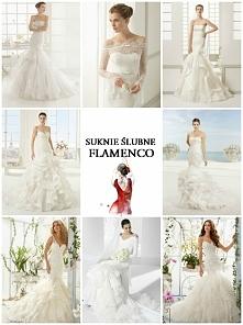 Suknie ślubne z falbanami w...