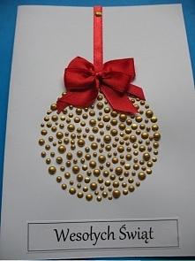 Kartka świąteczna - bombka :)
