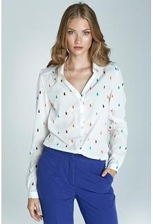 elegancka koszula wzór kolorowa