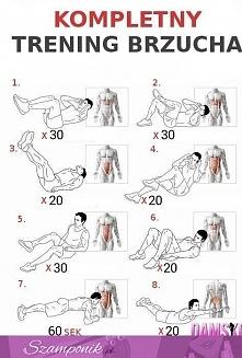 kompletny trening na mięśnie brzucha