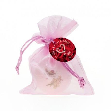 Musująca kula do kąpieli o zapachu róży <3 Naturalne składniki!
