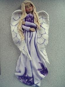 aniołek z masy solnej.. świetny na prezent diy
