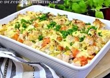 Zapiekanka z bagietki i kurczaka