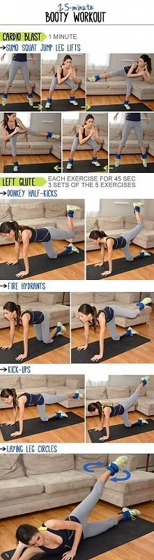 25-minutowy trening na szczupłe nogi i jędrne ❤️ pośladki :)  Trenujesz w jak...