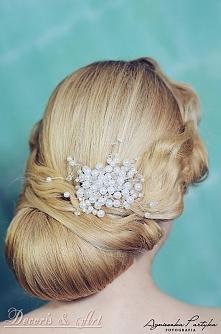 Ślubne ozdoby do włosów z p...