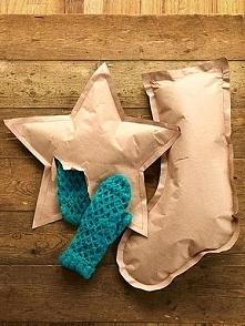 pomysł na zapakowanie prezentu 1.Z wybranego materiału (gazeta, papier pakowy...