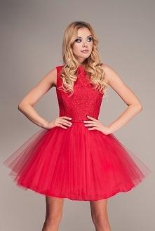 Redoure. Czerwona sukienka ...