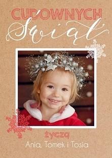 ciekawa kartka na Boże Narodzenia z własnym zdjęciem.  źródło: cardandart.pl