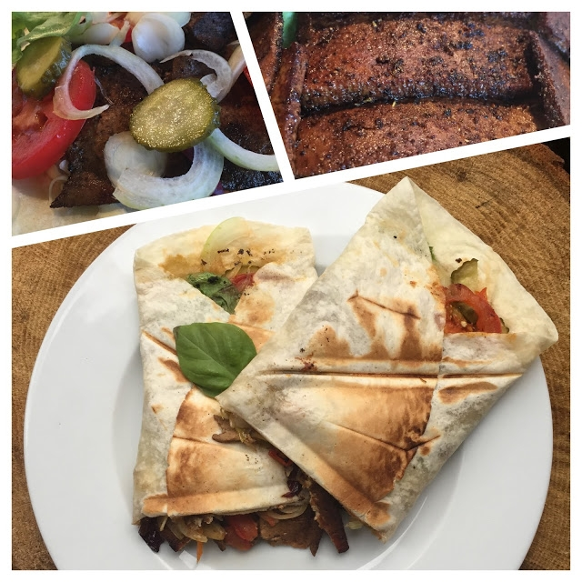 """Szybki, prosty i niskokaloryczny wegański """"kebab"""". Przepis po kliknięciu w zdjęcie."""