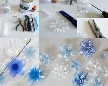 Śnieżynki z butelek