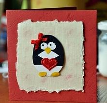 Kartka - pingwin :)