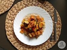 Jesienne leczo curry z kotletami sojowymi
