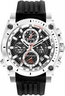 Super dokładny zegarek męski z chronografem Bulova Precisionist, sportowy charakter i świetny design