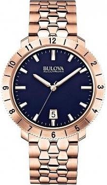 elegancki złoty zegarek męski na bransolecie z serii Bulova Accutron