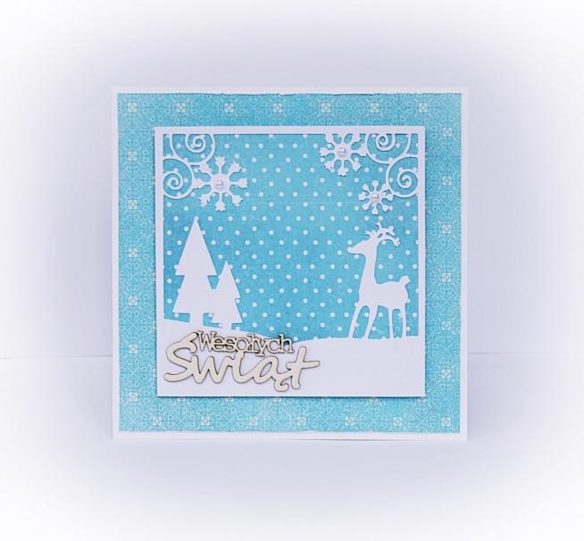 Kartka świąteczna ręcznie zrobiona, blog Kolorowy Światek