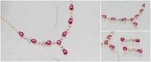 Naszyjnik z rubinami. Kolor przewodni róż i fuksja.