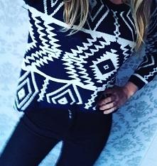 sweterek wzory geometryczne noshame