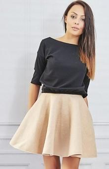 Milu MP29 spódnica beż Świetna spódnica, wykonana z wełny, rozkloszowany fason
