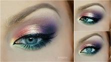 Kolorowy, tęczowy makeup