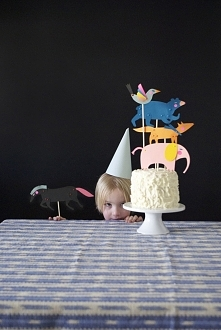 ••Puppets for Birthday Cake and Cupcake toppers