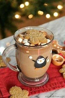 Przepis na gorącą piernikową czekoladę :) Składniki : 500 ml mleka,150 g gorz...