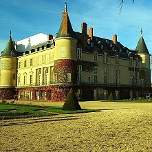 Złota francuska jesień ;) #chateau #chateauderambouillet #soyelle #francja #z...