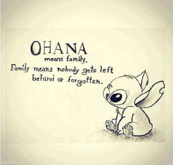 cytaty o rodzinie Ohana to znaczy rodzina a w rodzinie nikogo nie nazywamy gorszym  cytaty o rodzinie