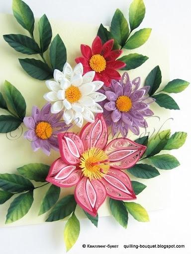 kwiaty, quilling