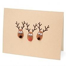 Kartka Świąteczna - renifer...