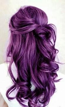 purple hair fiolet