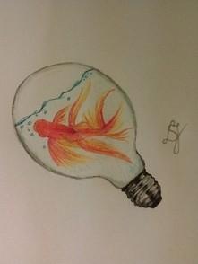 Inspirowane zszywką :) Co myślicie moim rysunku?