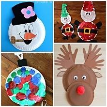 świąteczne rękodzieło dla dzieci z talerzyków jednorazowych