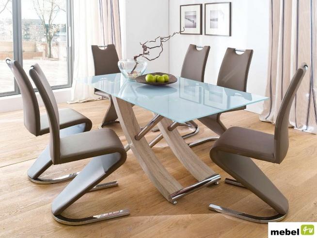 Stół Szklany Mea 160 Cm Krzesła Aldamo Więcej Po