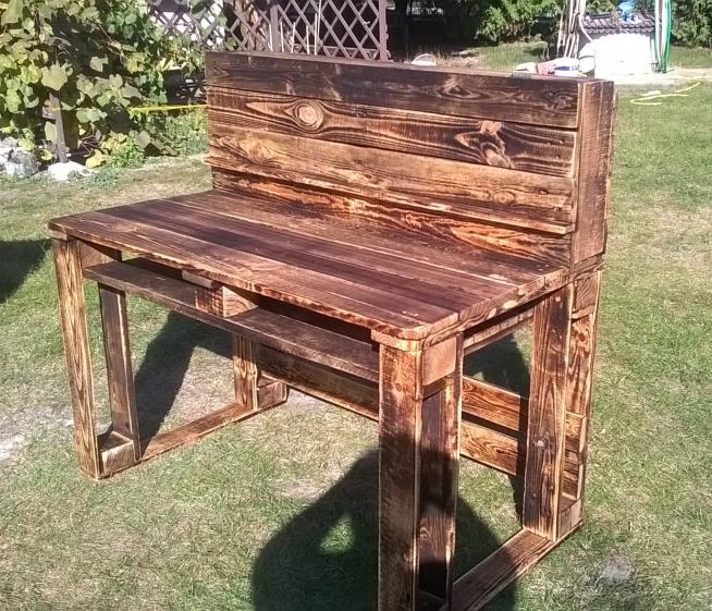 biurko z-eco. Stworzone z palet
