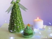 Choinka ze wstążki / Christmas tree with ribbon - tutorial twojediy.pl
