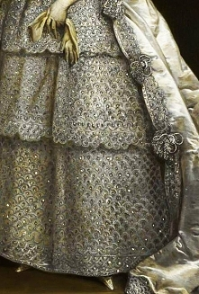 Traveling through history of Art...Portrait of Lady Frances, detail, by Charl...