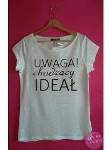 UWAGA! Chodzący ideał. T-shirt ręcznie malowany, 100 proc bawełna, fason luźny, rozmiar xs-xxl