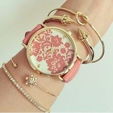 Zegarek koronka róż - 20,99zł - klik w zdjecie