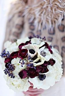 Zima bukiety ślubne zdjęcia