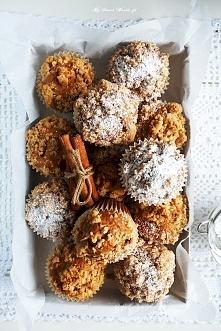 PYSZNE Muffinki z jabłkami, cynamonem i chrupiącą kruszonką :) KLIK W ZDJĘCIE...