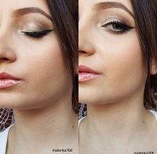 Makijaż w roli głównej z pigmentem inglota;)