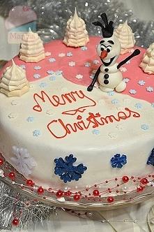 Tort Olaf z masą milky way
