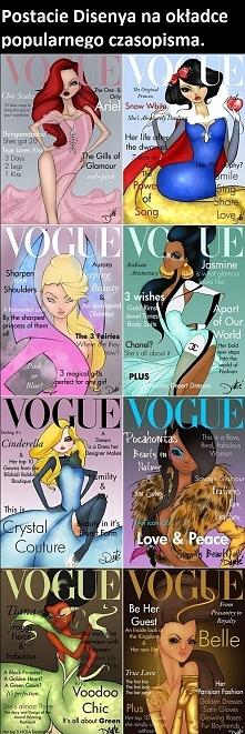 Postacie Disenya na okładce popularnego czasopisma